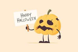 Halloween Zombie Pumpkin