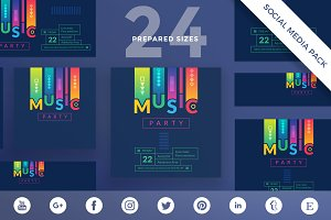 Social Media Pack | Music Party