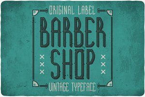 Barber Shop Typeface
