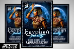 Egyptian Night Flyer Template