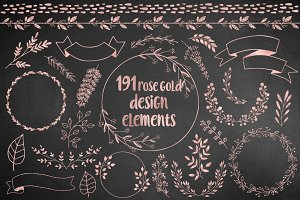 191 Rose Gold Design Elements