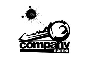 Key. Company Sign icon