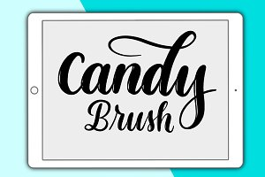 Candy lettering brush for Procreate