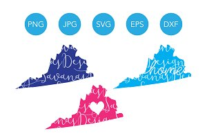 Virginia SVG Cut Files and Clipart