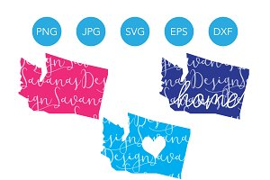 Washington SVG Cut Files and Clipart