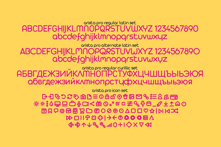 Best Arista Pro - 23 fonts Vector