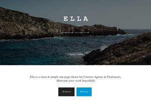 ELLA - Multipurpose One Page Theme