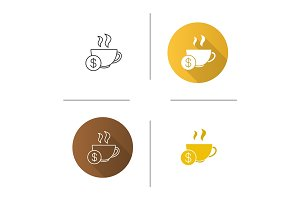 Buy cup of tea icon
