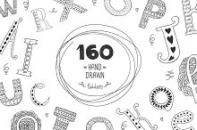 160 Hand drawn letters