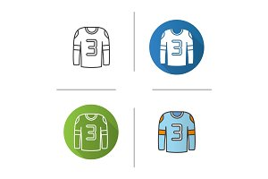 Hockey player's shirt icon