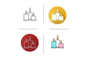 Spa salon candles icon