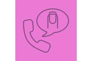 Manicure phone appointment linear icon