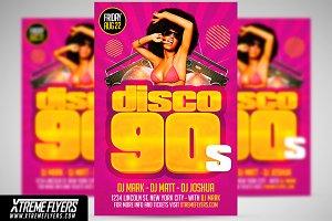 Disco 90s Flyer Template