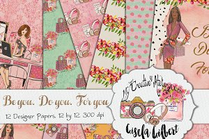 Lady Boss Digital Paper Pack