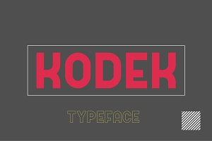 Kodek Typeface