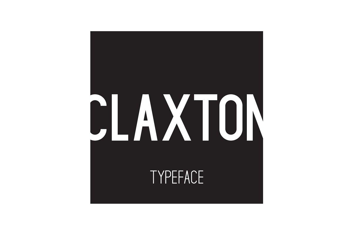 Claxton Typeface ~ Sans Serif Fonts ~ Creative Market