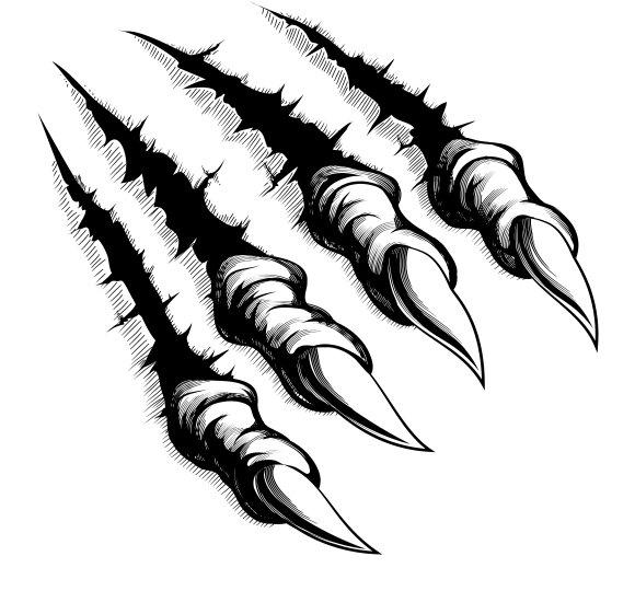 Monster Claws Break Through Back Graphics Creative Market