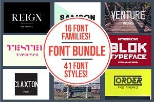 Font Bundle | 16 Fonts! 89% Off!!