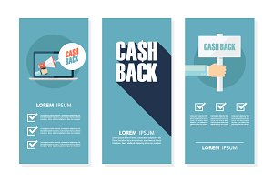Money cash back flyers.