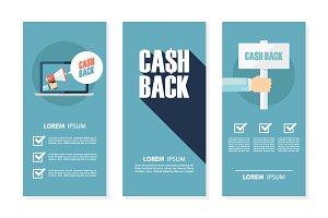 Money cash back flyers.