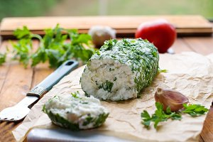 goat cheese with fresh herbs