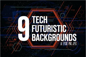 9 Tech futuristic backgrounds