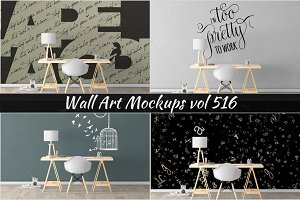 Wall Mockup - Sticker Mockup Vol 516