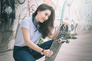 the girls like this style skateboard