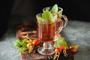 Rose hip herbal tea