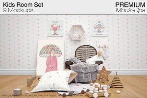 Kids Mock-up - Kids Room Mockup Pack