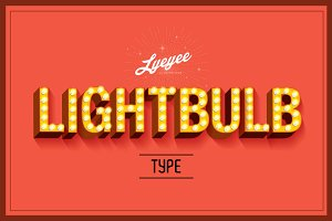 lightbulb typography vector