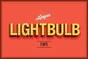 lightbulb typography vector