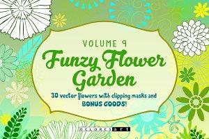Funzy Vector Flower Garden Volume 9