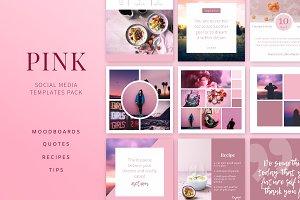 PINK | Social Media Templates Pack
