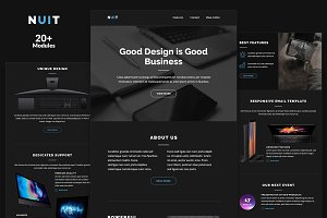Nuit Email Template + Builder