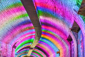 Colorful abstract underground