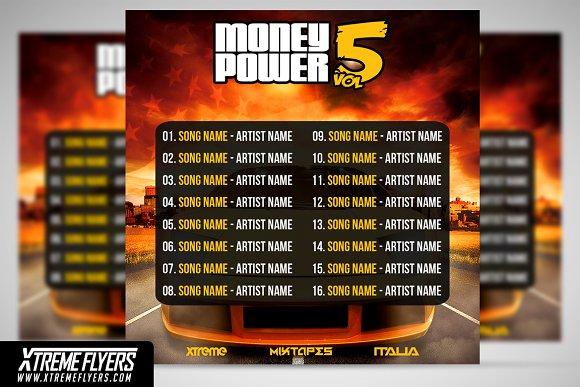 mixtape cover template templates creative market