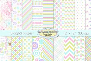 18 Easter/Springtime Pastel Papers