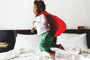 Cheerful african boy