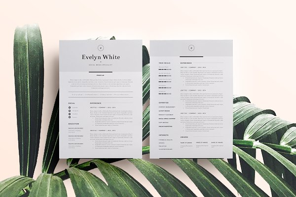 Resume Templates: The Template Depot - Resume Template 4 Page | CV Template
