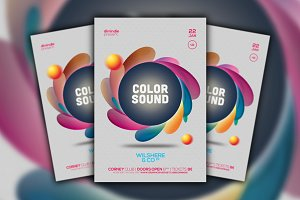 Color Sound Flyer Template