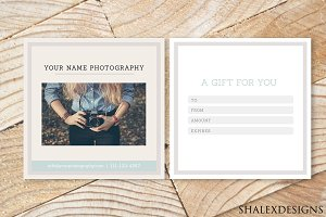 Photography gift certificate voucher stationery templates photography gift card template yelopaper Images