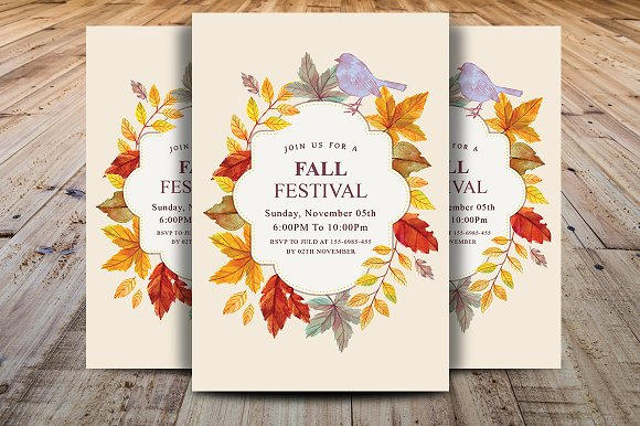Fall Harvest Party Invitation