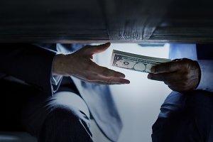Hands Giving Money Corruption
