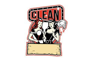 Twin Cleaner Maid Retro