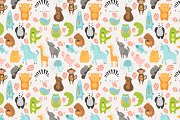 Cute animals collection+pattern