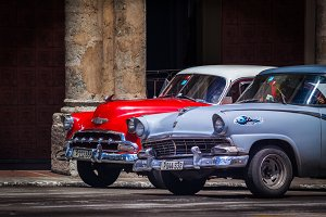 Old 1950s cars