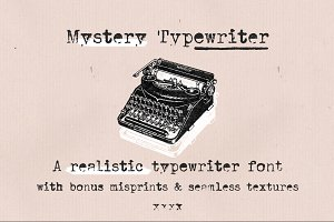 Mystery Typewriter font