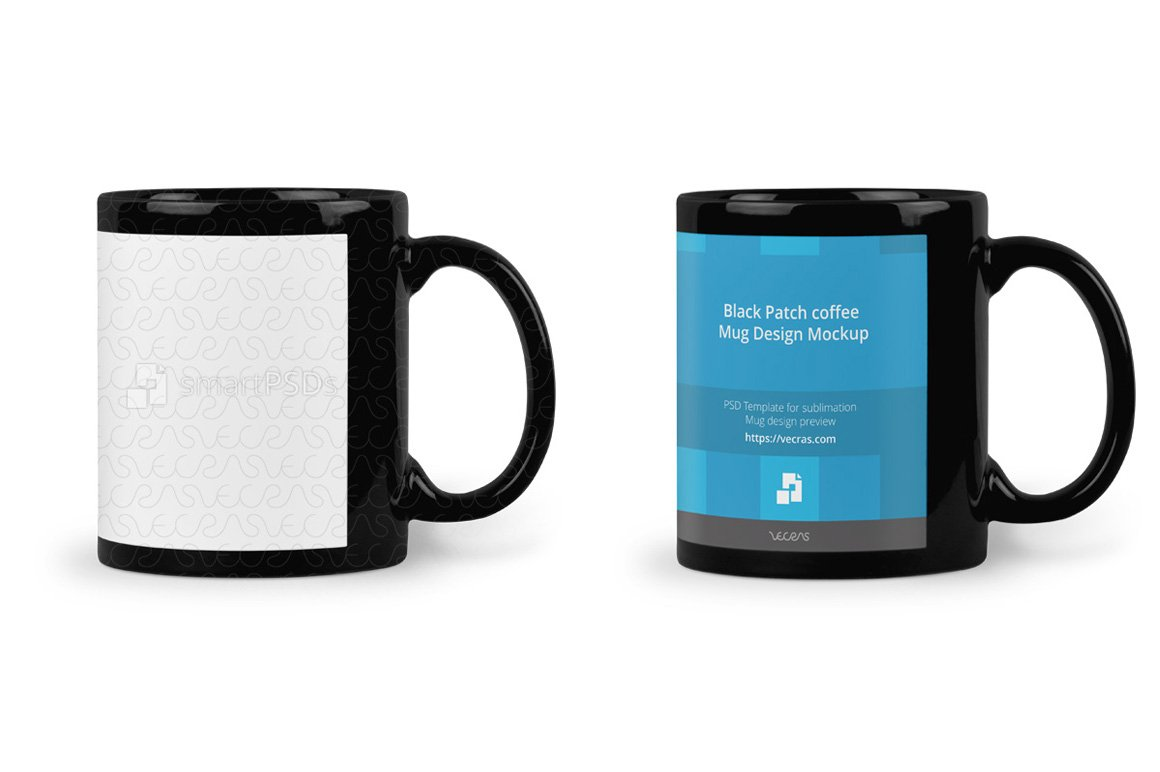 Black Patch coffee Mug Mockup ~ Product Mockups ~ Creative Market
