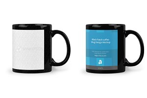Black Patch coffee Mug Mockup